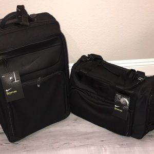 Nike suitcase and duffle black departure luggage